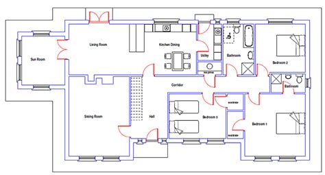 home blueprint design riocht bungalow house plan architectural designed