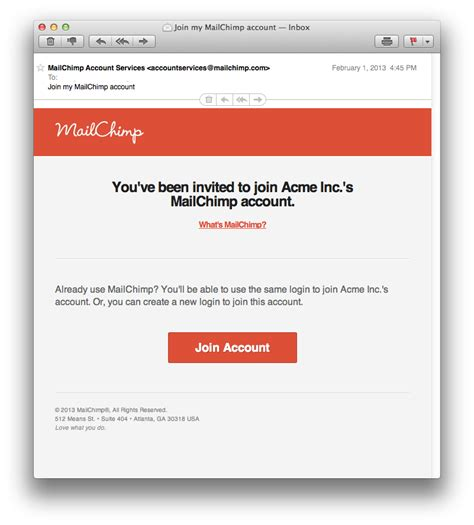 account activation email template mailchimp v8 multi user accounts and permissions