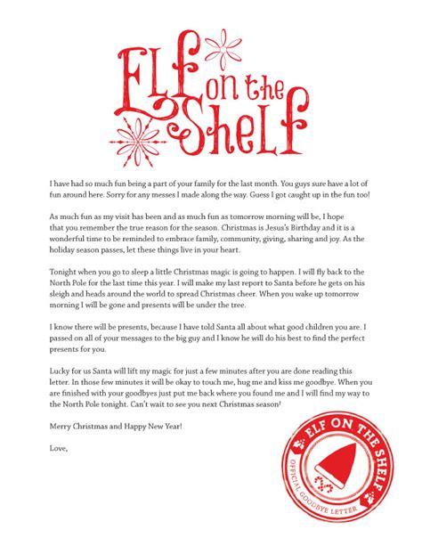 elf   shelf goodbye letter levelings