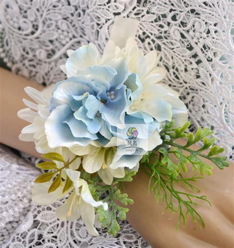 handmade diy wrist corsage artificial flowers wedding