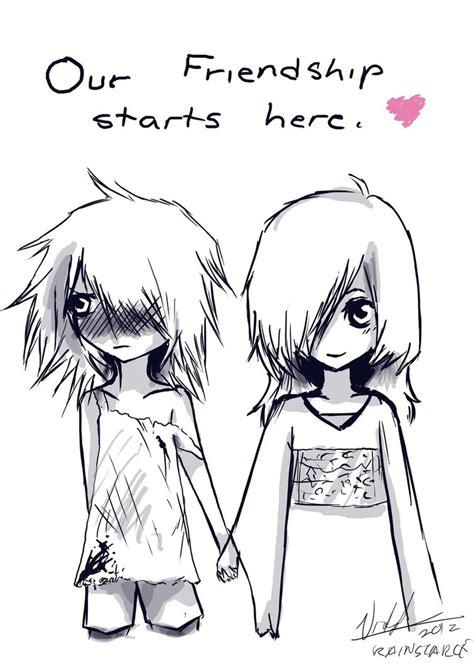 cute drawings of friendship best friend heart drawings hipster friendship starts here by rainscarce on deviantart