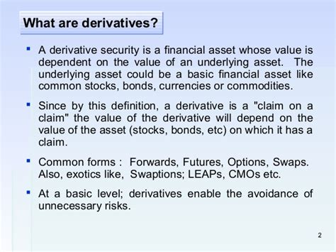 derivatives finance definition gci phone service