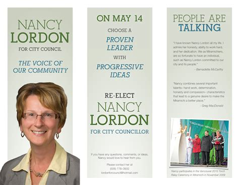 political caign brochure template lordon for council election caign brochure 2012 on behance