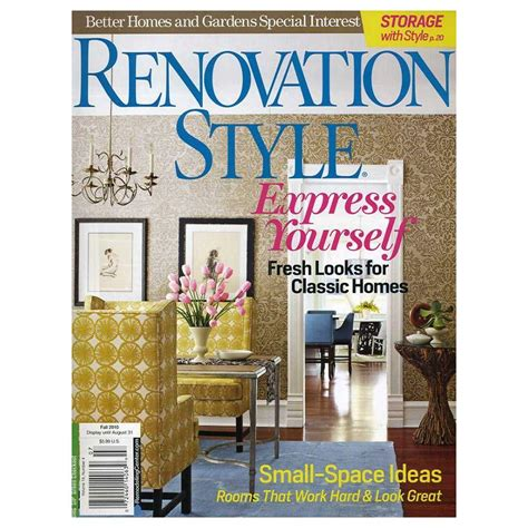 better homes and gardens renovation style magazine 14063