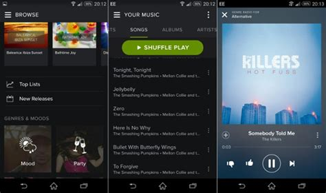 spotify mobile player 6 best android player apps sidify