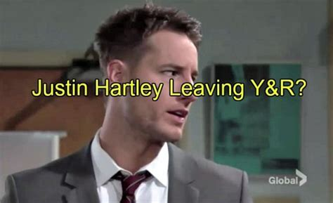 whos leaving young and restless the young and the restless spoilers is justin hartley