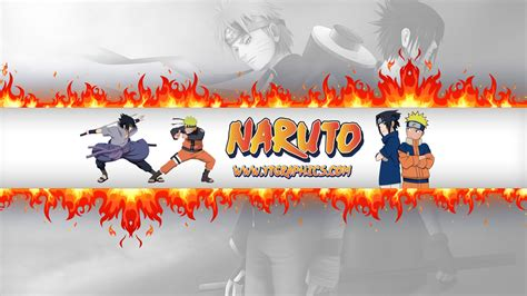 naruto yt naruto sasuke youtube channel art banners