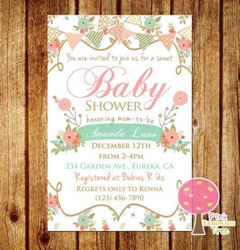 shabby chic invites wonderful shabby chic baby shower invites 43 with