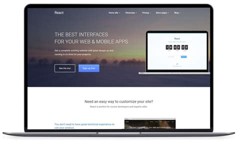100 Free Html5 Website Templates For Instant Site Launching React Website Template Free