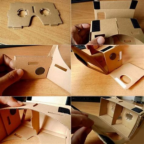Cardboard Reality For Smartphone ulter clear diy cardboard 3d vr reality glasses for smartphone us ebay