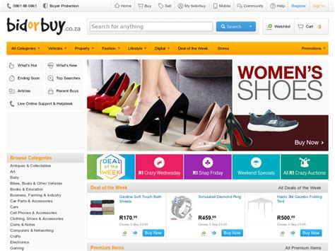 bid and buy bidorbuy south africa shopping safe and simple