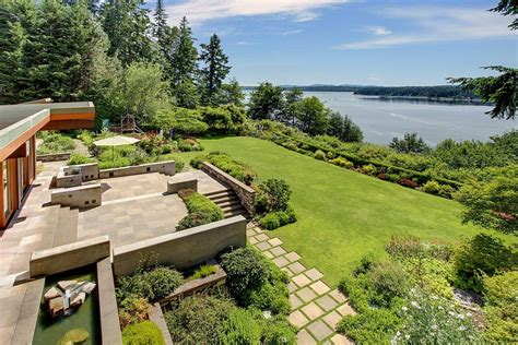 Waterfront Cottage Plans Bainbridge Island House Of Ancient Wood Awesome Views