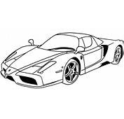 Deluxe Ferrari Sport Car Coloring Page  Pages