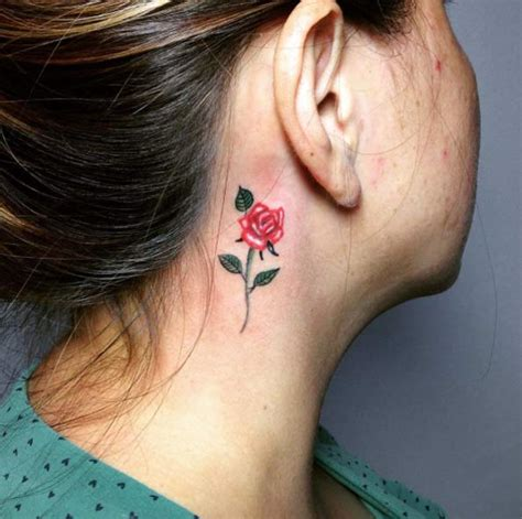 rose tattoo behind ear 70 gorgeous tattoos that put all others to shame