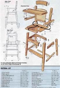 furniture plans online wooden high chair plans woodarchivist