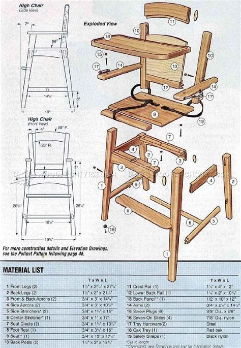 couch woodworking plans wooden high chair plans woodarchivist