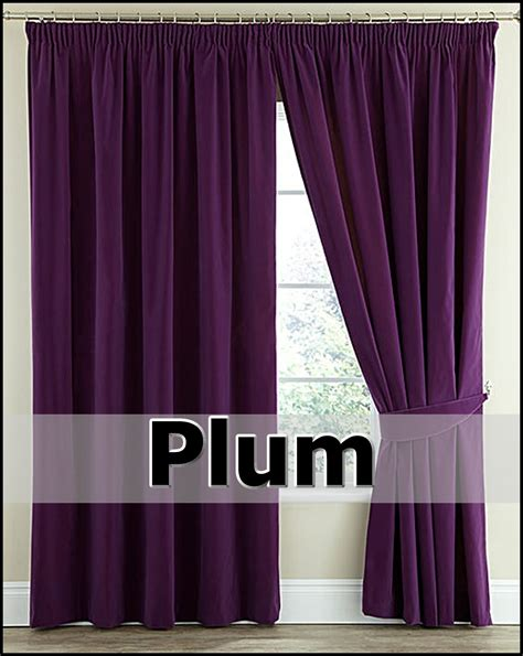 curtains ta pair thermal velour velvet plain dyed pencil pleat