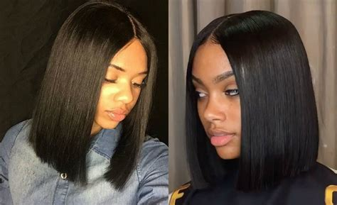 Black Hairstyles 2017 Bobs by Black Middle Part Bob Hairstyles 2017 Blackhairlab