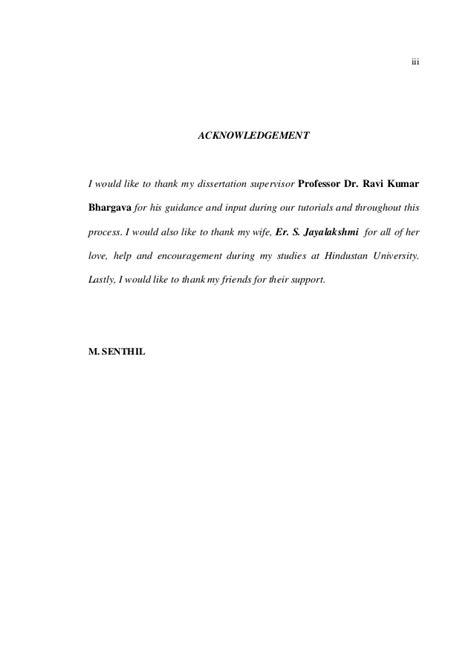 thesis acknowledgement supervisor dissertation acknowledgement supervisor