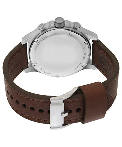 Fossil Original Jr 1436 Leather Stainless Steel fossil s jr1473 nate chronograph stainless steel with brown leather band desertcart