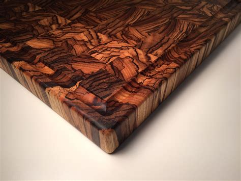 unique wood cutting boards handmade professional end grain zebrawood cutting board by