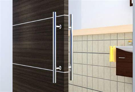 Interior Door Handles For Homes European Modern Satin Stainless Steel Sliding Barn Wood
