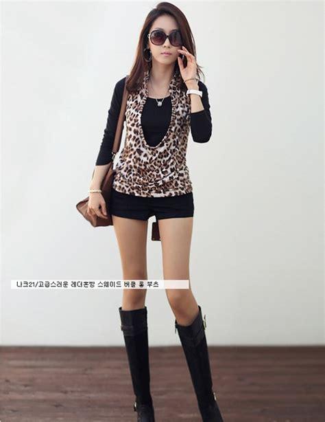Atasan Second Import 2 atasan wanita leopard import 2pcs model terbaru jual murah import kerja