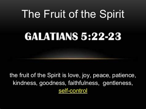 9 fruit of the spirit the fruit of the spirit 9 self