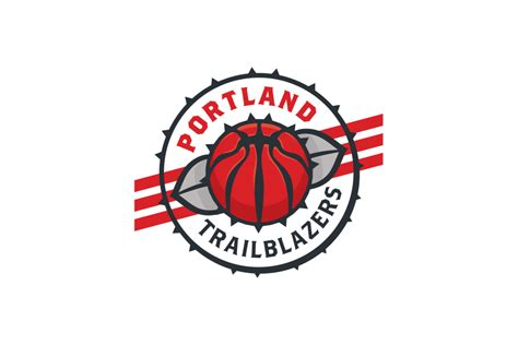 nba logo redesigns by michael weinstein michael weinstein nba logo redesigns portland trailblazers