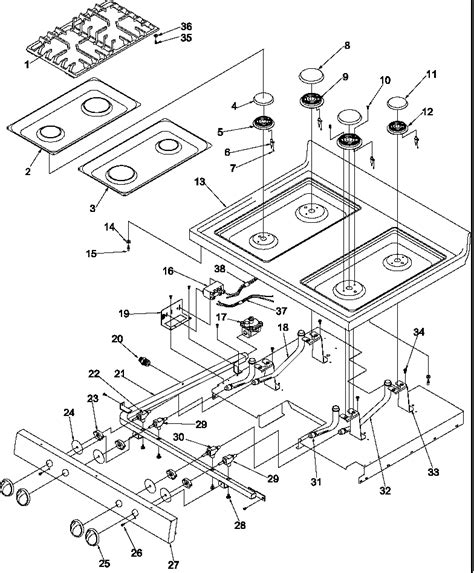 gas stove diagram amana arg7800e gas range timer stove clocks and