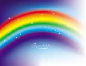 绚丽的彩虹幻彩背景矢量图2 矢量图标素材 矢量素材 素彩网