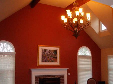 pictures of rooms with two different colors painted living room walls vaulted ceiling and