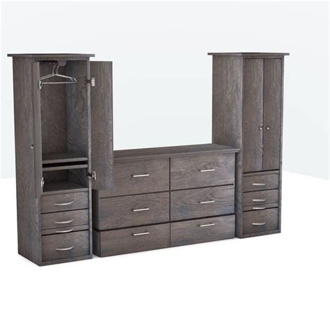 Cabinet Bed by Denva Cabinet Bed Grey 02