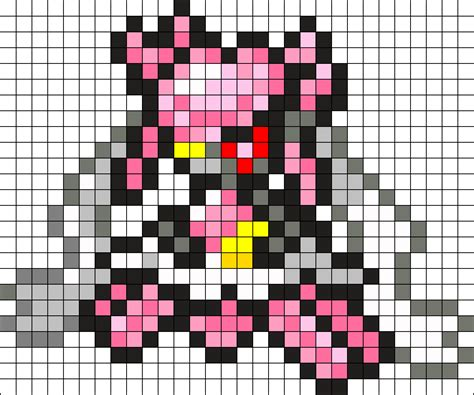 mega perler 719 mega diancie perler bead pattern bead sprites