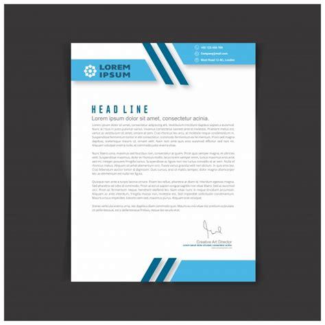 vector editable business letter template