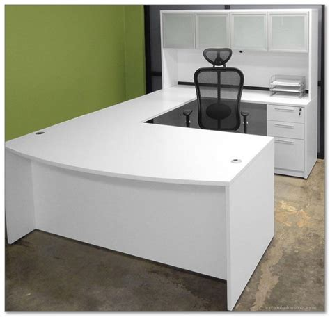 White U Shaped Desk U Shaped Desk Ikea Multi Functional And Large Desk For Office Home Decor