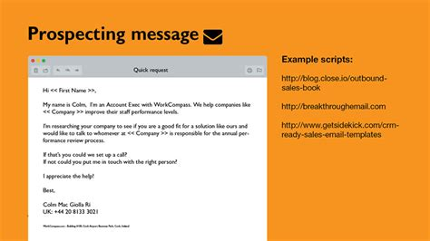 The Cold Email Message That Generates All Our B2b Leadsonepagecrm Cold Sales Email Template