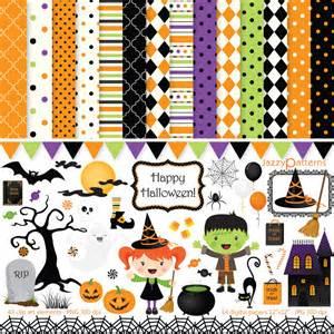 halloween scrapbooking paper halloween clipart and digital papers scrapbook pack happy
