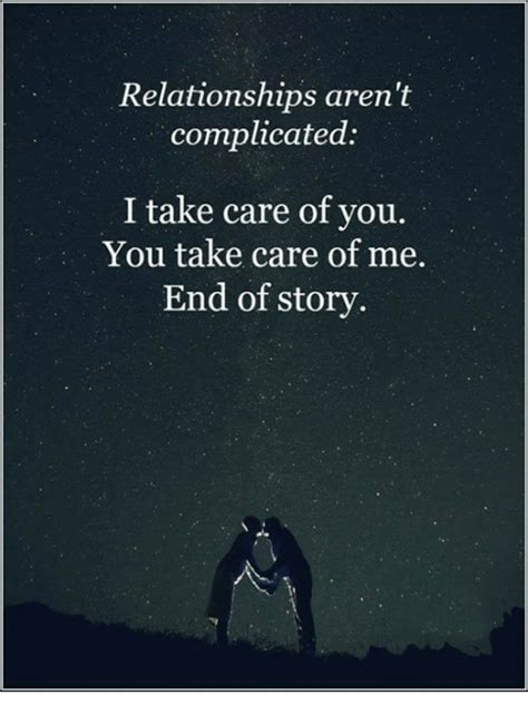 Take Care Of My World The Story Of Adam And In The Garden relationships aren t complicated i take care of you you take care of me end of story meme on