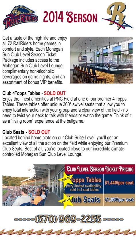 railriders seating chart 2015 club level packages scranton wilkes barre