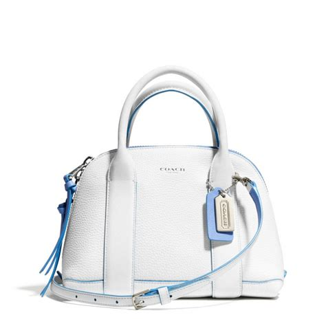 Coach Bag White by Coach Bleecker Mini Satchel In Edgepaint Leather In White Lyst