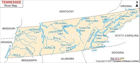 tennessee river map tennessee river map