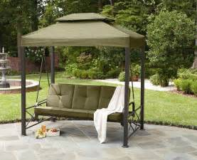 backyard swings garden oasis 3 person gazebo swing limited availability