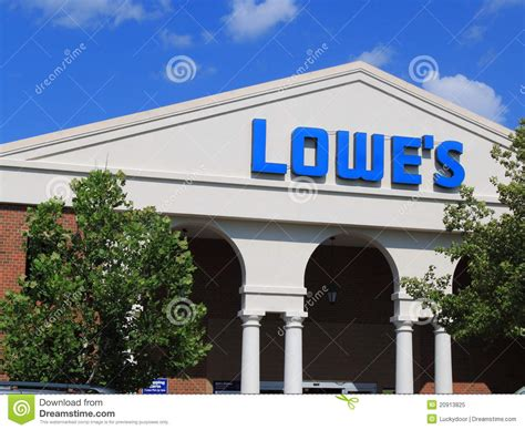 lowes store front editorial image image 20913825