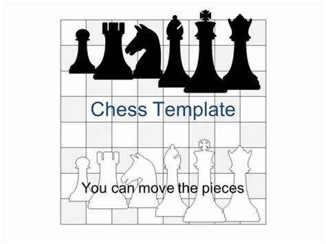 chess board template chess set powerpoint template