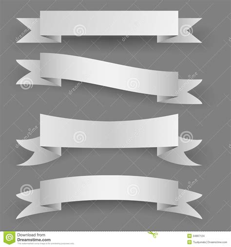 Blank Paper Banners Stock Images Image 34887124 Paper Banner Template