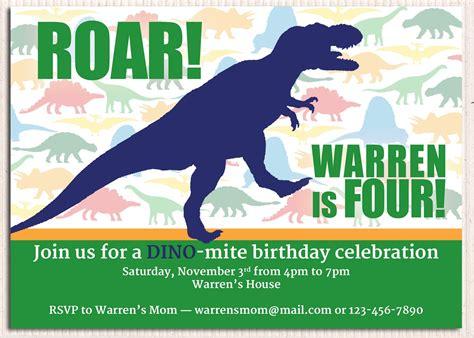 Dinosaur Birthday Party Invitations Template Resume Builder Dinosaur Themed Invitation Templates