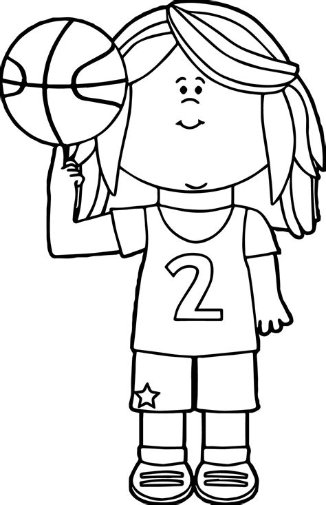 coloring pages of girl basketball players girl basketball player balancing ball on finger playing