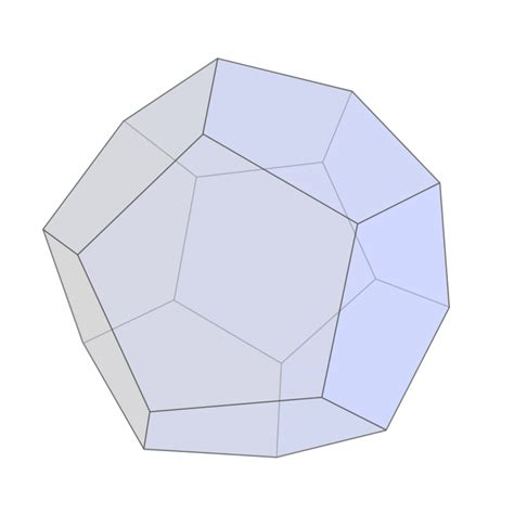 Dodecahedron Origami Free - file dodecahedron light blue svg simple
