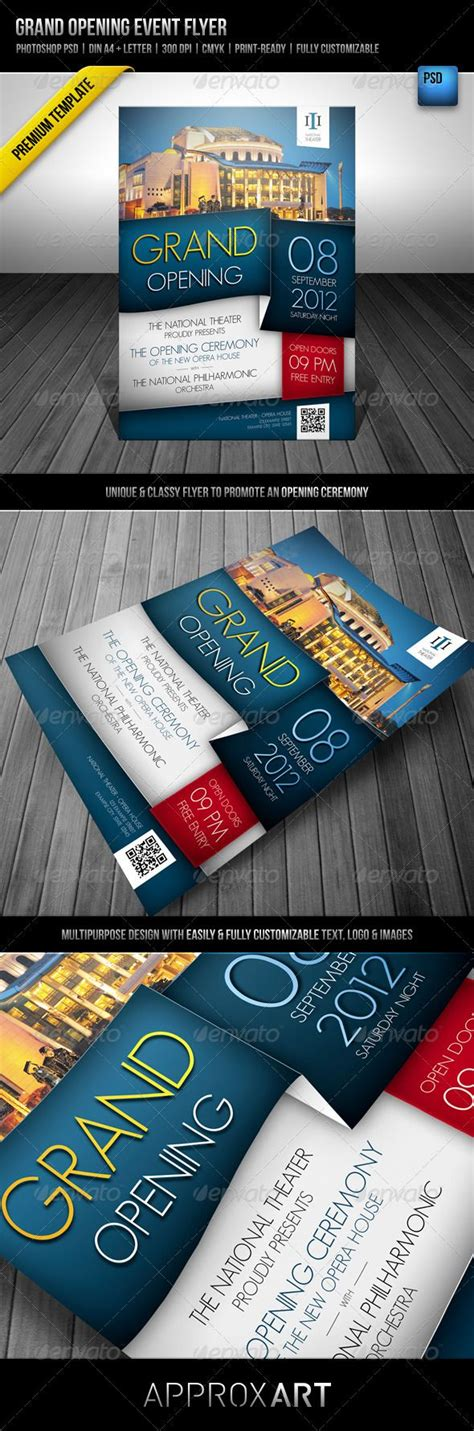 Grand Opening Event Flyer Event Flyers Flyer Template And Template Flyer Template Rar